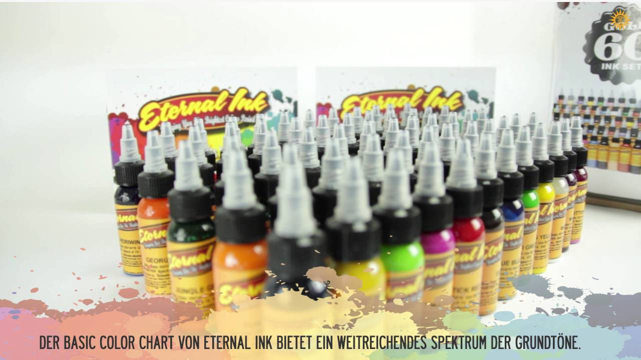 ETERNAL INK - STANDARD FARBEN (Tattoo Farbe / Tattoo Tinte ...