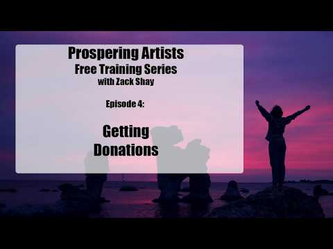 Prospering Artists: Getting Donations - Talking About Patreon for Artists
