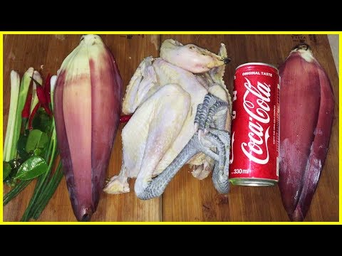 Roast Chicken with Coca Cola, Asian Food Recipes, Cambodian Food Cooking