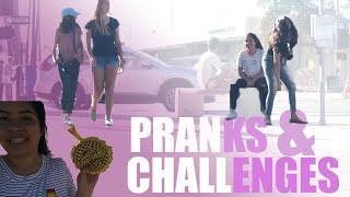 FALLING IN PUBLIC, LAVA CHALLENGE AND FARTING PRANK | DAY 1