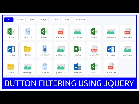 Button Filtering Using HTML CSS And Jquery - List Filtering - Tabs Filtering