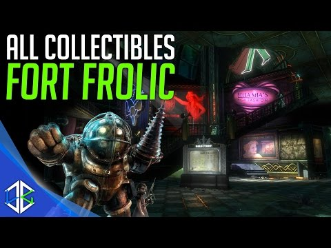 Bioshock The Collection - All Collectibles Fort Frolic (Audio Diary, Tonics, Plasmids, Reels)