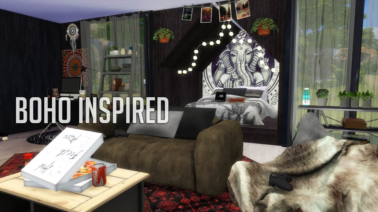 The Sims 4 Boho Inspired Room Build Youtube