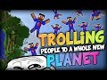 TROLLING VIKKSTAR TO ANOTHER PLANET? - Minecraft Beautiful Parkour w/ JeromeASF, Vikk and Simon