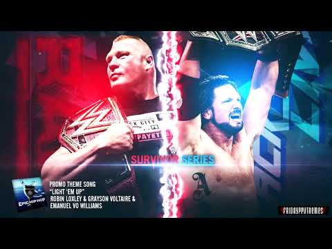 WWE Survivor Series 2017 Brock Lesnar vs AJ Styles Promo Theme Song -