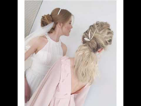 Легкие прически и крепление фаты для невесты