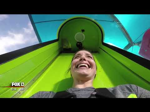 New Adventure Island water slide kicks off with 70-foot drop (3-8-18)