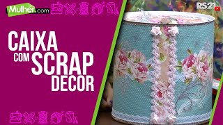 Marisa Magalhães – Caixa com scrap decor Parte 1/2