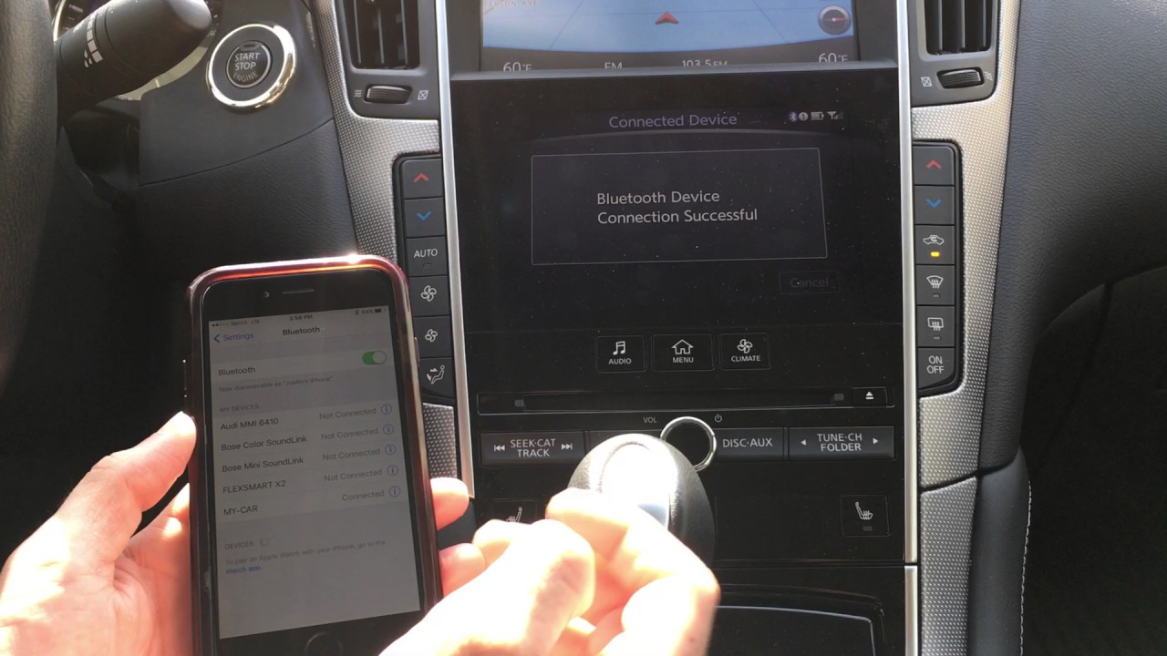 Connecting I-Phone to INFINITI Q50