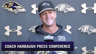 John Harbaugh Points to Biggest Challenge With Bengals | Baltimore Ravens