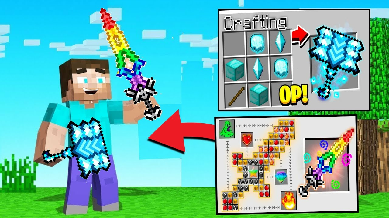 *NEW* POWERFULL WEAPONS in MINECRAFT !!