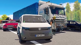 Autobahn Police Simulator 2 - Tired truck driver causes huge pile up