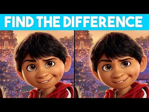 ONLY TRUE GENIUS can FIND THE DIFFERENCE | 100% FAIL | COCO MOVIE PUZZLE