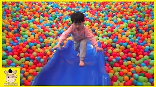 Indoor Playground Fun for Kids and Family Rainbow Colors Balls Slide Play  | MariAndKids Toys