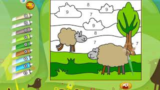 Drawing Sheep | Color with Numbers | Coloring Pages for Kids | Coloring apps
