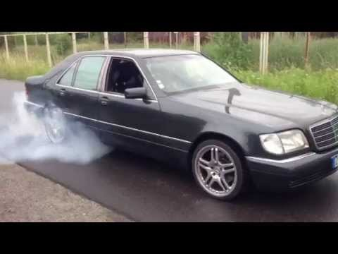 mercedes benz s300 td burnout diesel power youtube. Black Bedroom Furniture Sets. Home Design Ideas