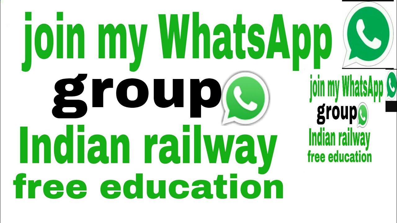 Join Indian railway WhatsApp group,education