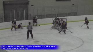 Acton Boxborough Girls Ice Hockey @ Weston 1/22/16