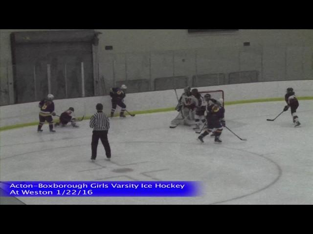 Acton Boxborough Girls Ice Hockey @ Weston 1/22/16