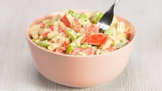 Легкий, вкусный салат с крабовыми палочками за 10 минут! Ничего не варим! Рецепт от Всегда Вкусно!