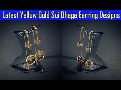 Latest Yellow Gold Sui Dhaga Earring Designs Youtube