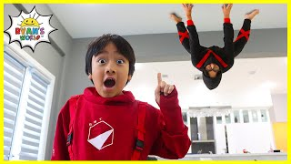 Ninja in the house!!! How to become a real Ninja with Ryan!!!