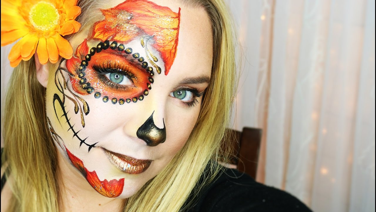 Pretty And Easy Sugar Skull Makeup And Face Painting By Lisajoyyoung