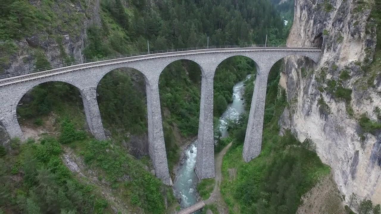 Dji Phantom 3 Drone >> Landwasser Viaduct from Drone - YouTube