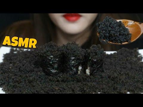 ASMR BLACK FLYING FISH ROE & Homemade SUSHI(😅🍣) MUKBANG EATING SOUND Nalchial Tobiko Sushi