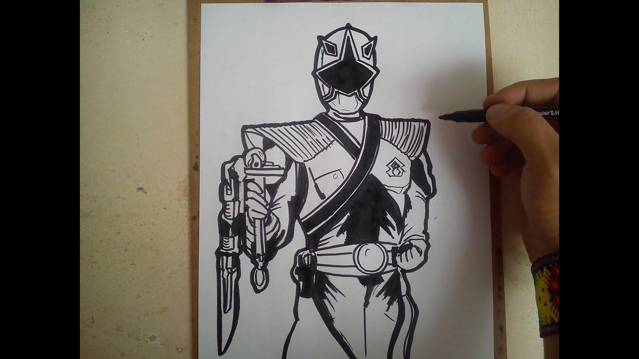 Como Dibujar Power Ranger Samurai Dorado How To Draw