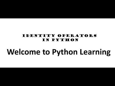 Identity Operator in PYTHON