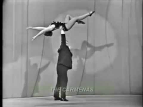 Old time circus mind blowing balancing act #