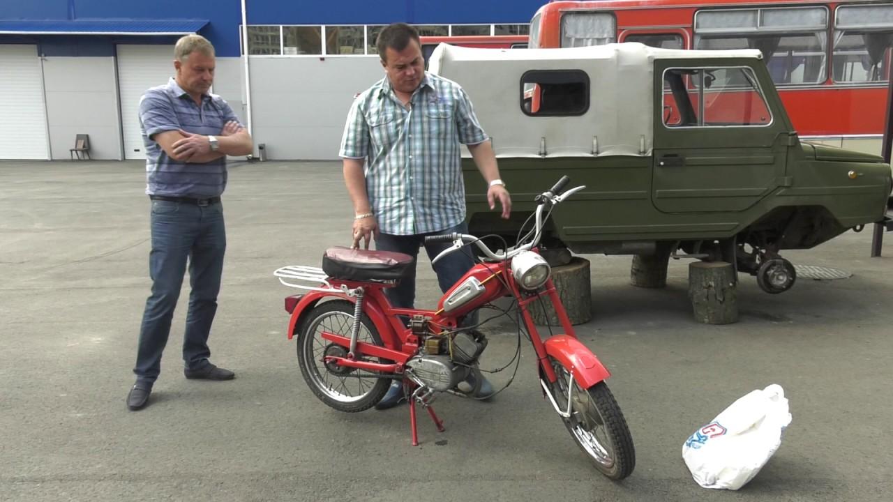 ЛуАЗ-969м ставим на ход, и советский мопед Верховина