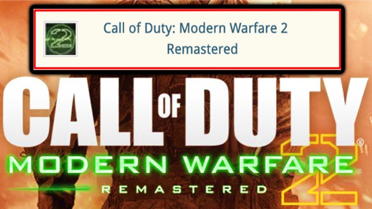 Modern Warfare 2 Remastered Official Listing LEAKED (Call of Duty Modern  Warfare Special Edition DLC