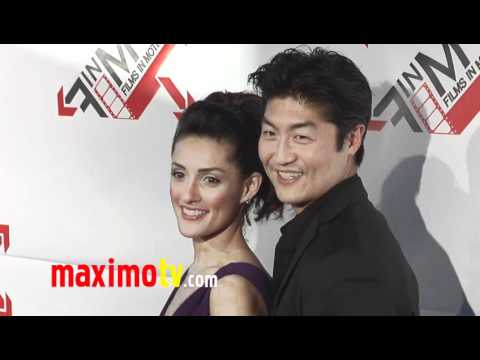 """BRIAN TEE and MIRELLY TAYLOR at """"BLOOD OUT"""" Premiere Red Carpet"""