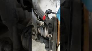 VW Volkswagen Passat wheel abs speed sensor replacement by Dmitry