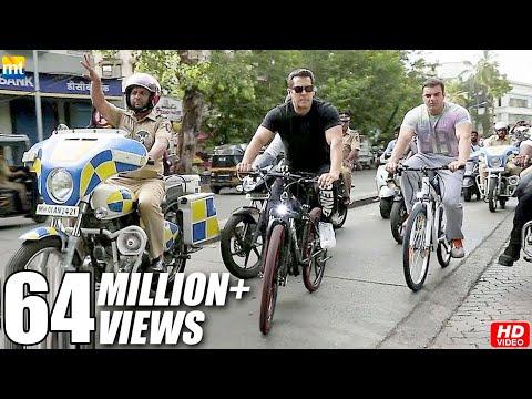 Salman Khan And Brother Sohail Khan Riding Cycle On The Streets Of Bandra, Mumbai