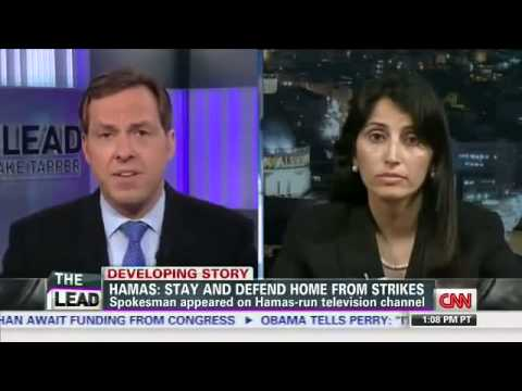 Palestinian woman takes on a hostile and biased CNN anchor.