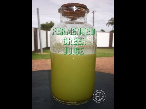 Fermented Probiotic Green Juice Elixir | Coconut Water Kefir