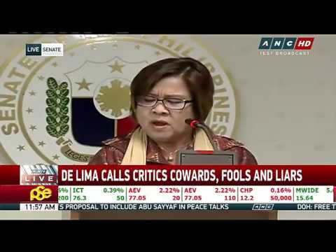 FULL VIDEO of Press conference ni Sen. Leila de Lima after RIOT on BILIBID