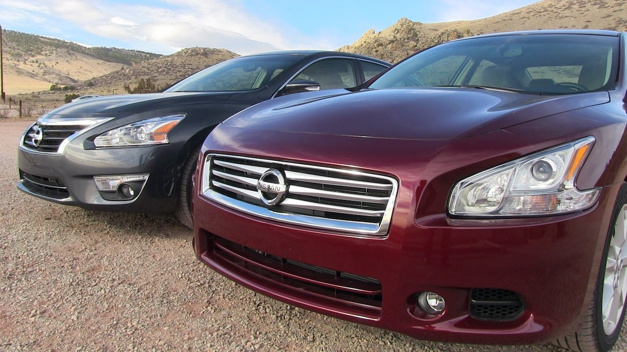 Altima Vs Maxima >> 2013 Nissan Altima vs Maxima 0-60 MPH Mashup Review - YouTube