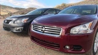 2013 nissan altima vs maxima 0 60 mph mashup review