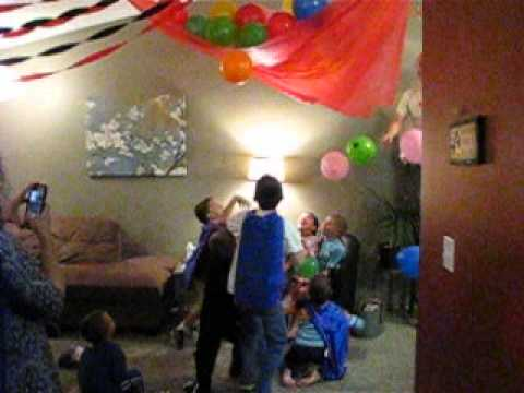 Lucas birthday balloon drop YouTube