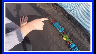 Toy Monster Trucks Beyblades Toy Hot Wheels Cars Trampoline Fun