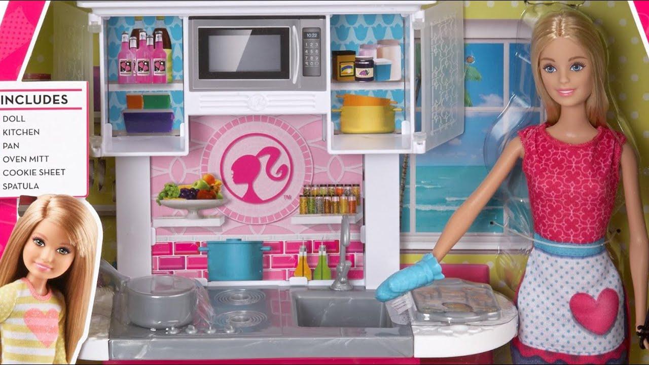 Barbie Doll And Kitchen Furniture Set Barbie Kuchnia Z