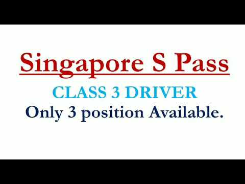 Singapore Driver job - Class 3 License must need