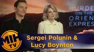 Sergei Polunin, Lucy Boynton Murder on the Orient Express uncut Interview streaming