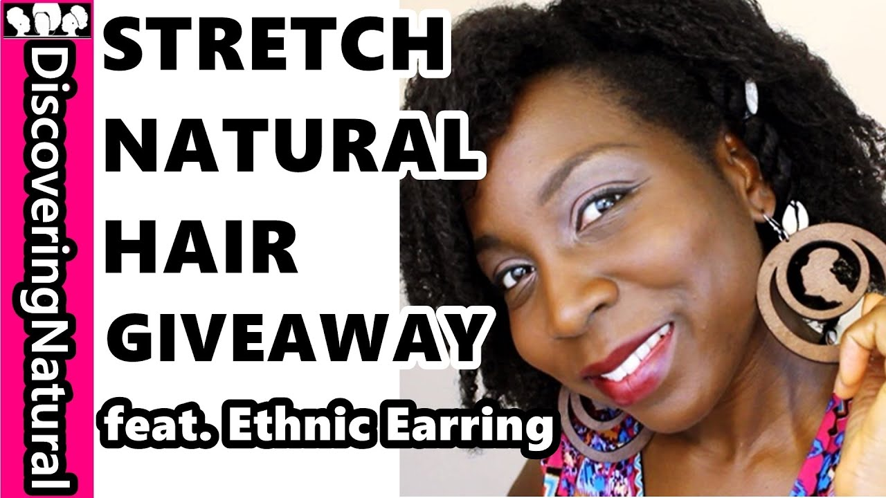 #naturalhair  How To Stretch Natural Hair With Rubber African Threading  Feat Ethnic Earring