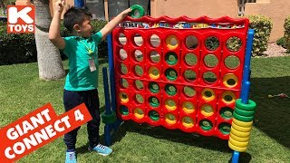 GIANT CONNECT 4  FOUR Family Game Night Life Size Toy || Keith