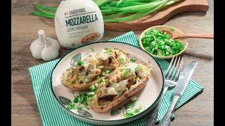 Картофель, запеченный с моцареллой